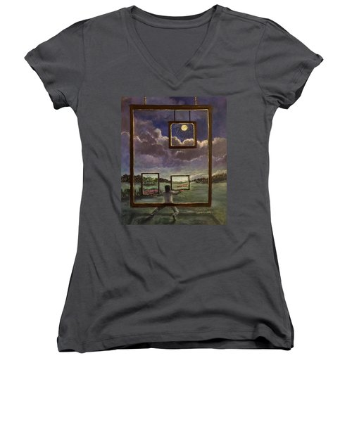 A World Of Visions Women's V-Neck