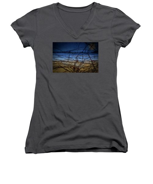 Abstract Landscape Women's V-Neck