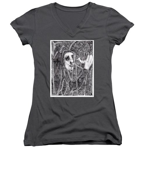 After Childish Edgeworth Pencil Drawing 10 Women's V-Neck