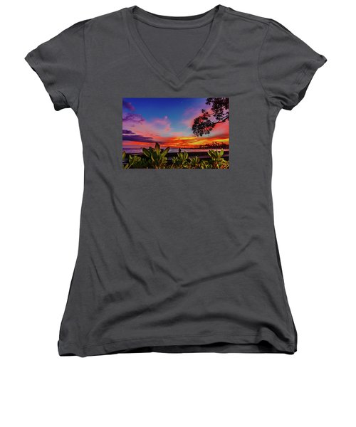 After Sunset Colors Women's V-Neck
