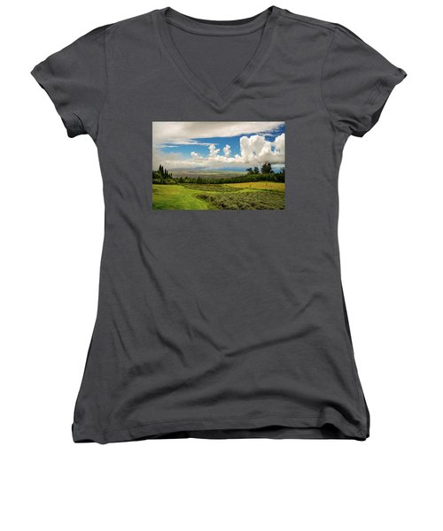 Alii Kula Lavender Farm Women's V-Neck