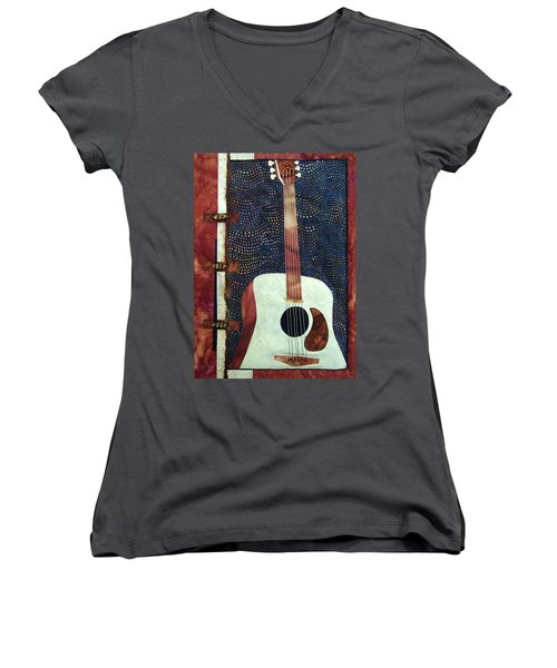All That Jazz Guitar Women's V-Neck