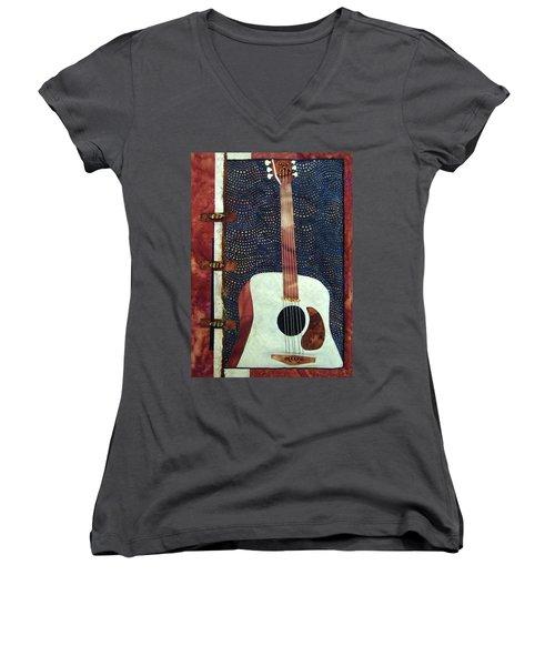 All That Jazz Guitar Women's V-Neck