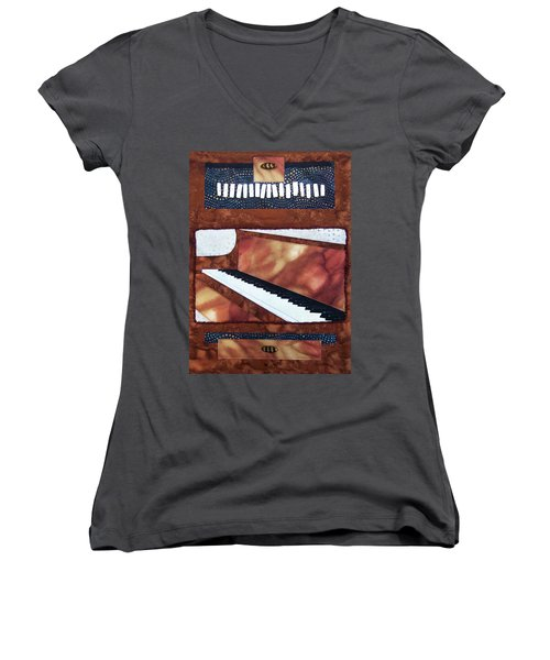 All That Jazz Piano Women's V-Neck