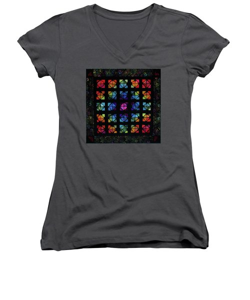 All The Colors Women's V-Neck