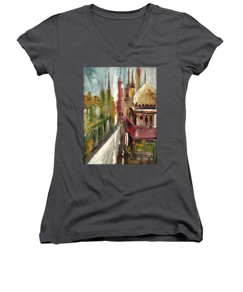 Mosque  Women's V-Neck