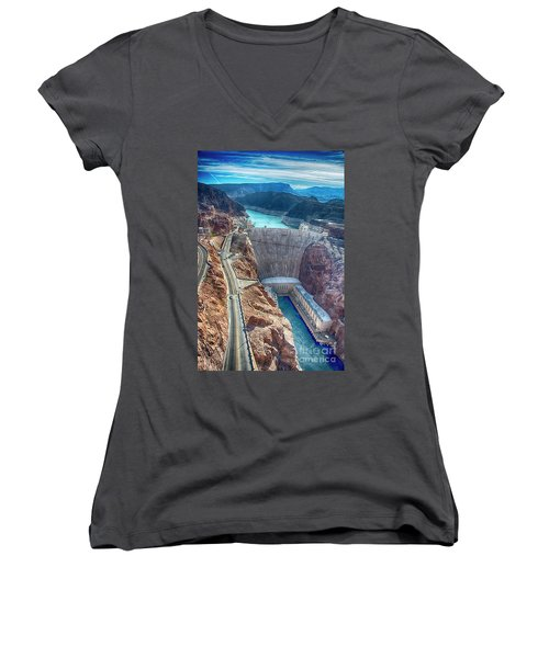 Amazing Hoover Dam Women's V-Neck