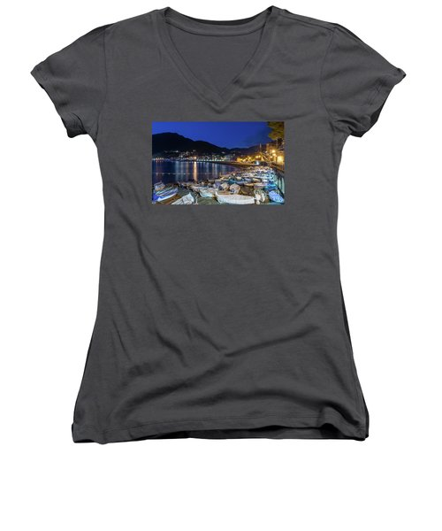 An Evening In Levanto Women's V-Neck