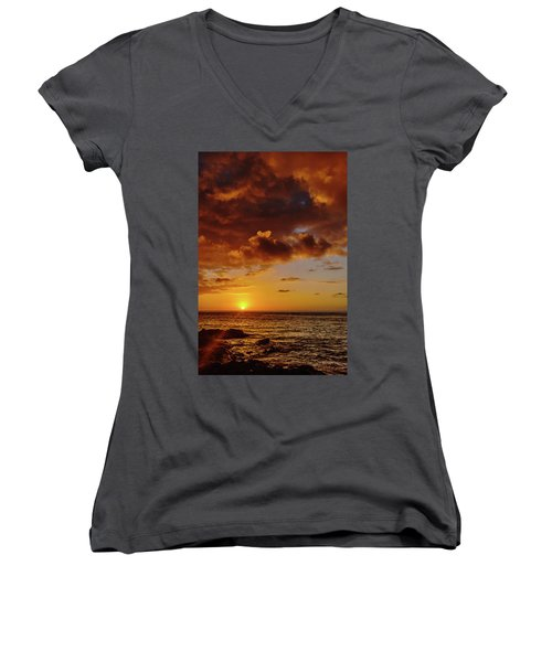 And Then The Sun Set Women's V-Neck