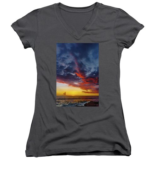 Another Colorful Sky Women's V-Neck