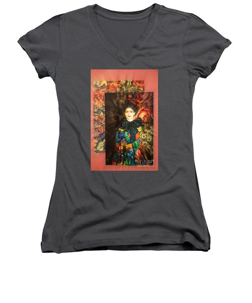 Artistic Frida Kahlo Stream  Women's V-Neck