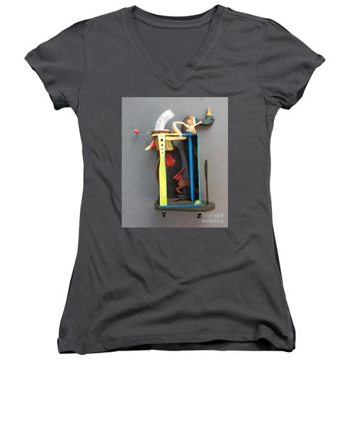 Assemblage #3 Women's V-Neck (Athletic Fit)