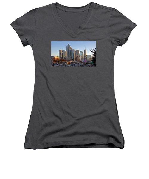 Atlanta - Downtown View Women's V-Neck