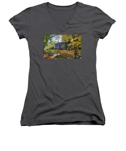 Autumn At Short House Women's V-Neck