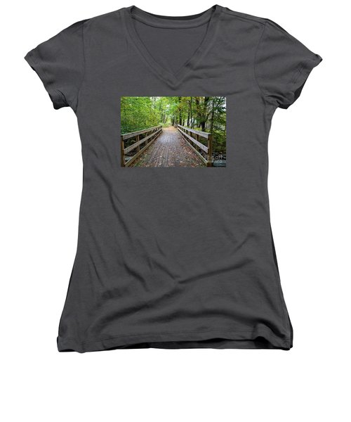 Autumn Bridge Women's V-Neck