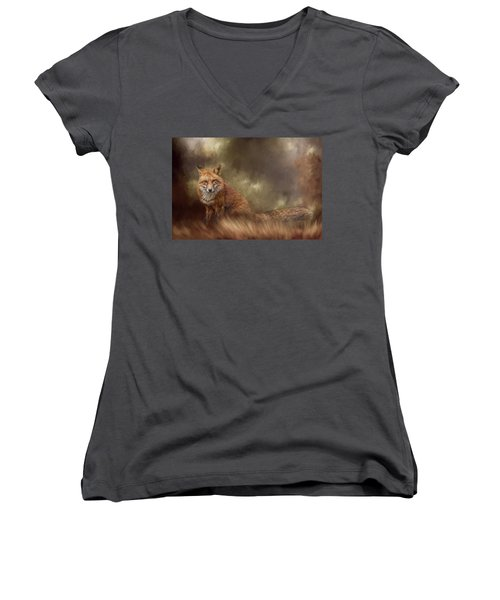 Autumn Journey Women's V-Neck