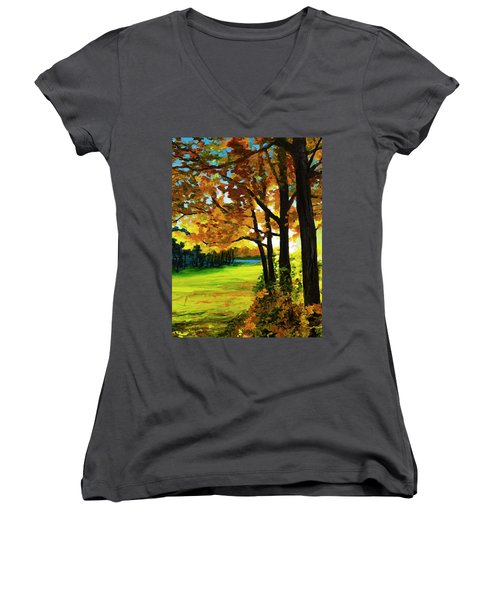 The Sun Will Rise With Healing In His Wings Women's V-Neck