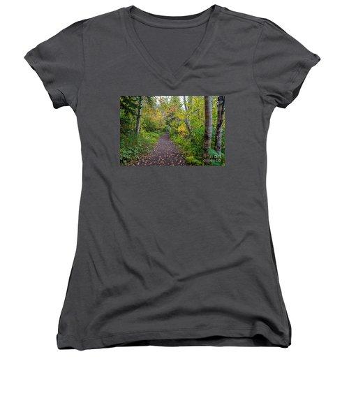 Autumn Woods Women's V-Neck