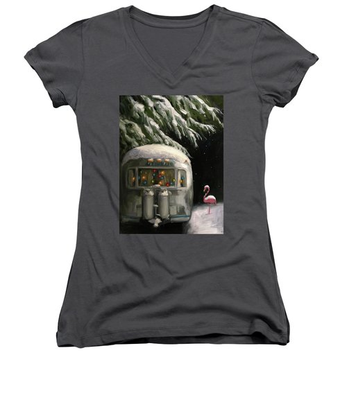 Baby, It's Cold Outside Women's V-Neck