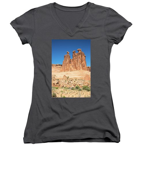 Balanced Rocks In Arches Women's V-Neck