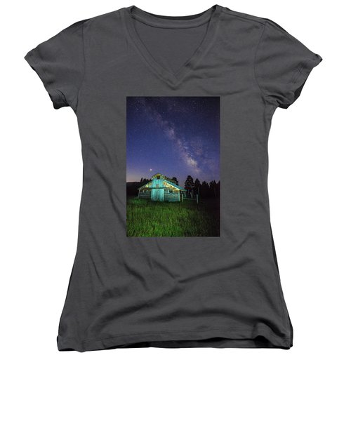 Barn In Rocky 2 Women's V-Neck
