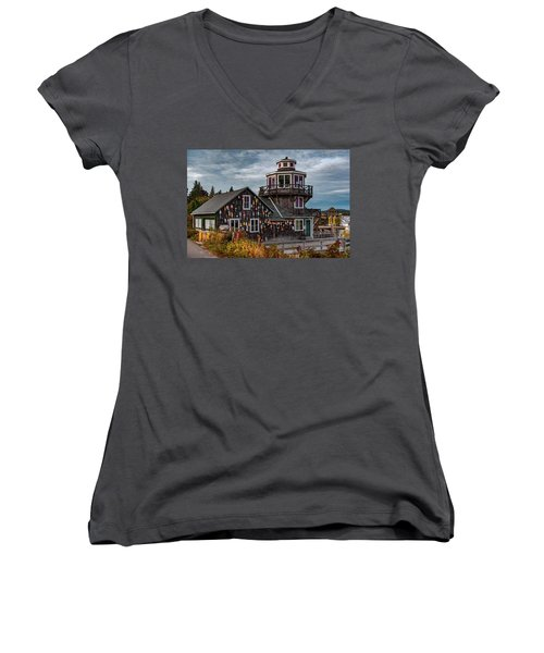 Women's V-Neck featuring the photograph Bass Harbor by Rick Hartigan