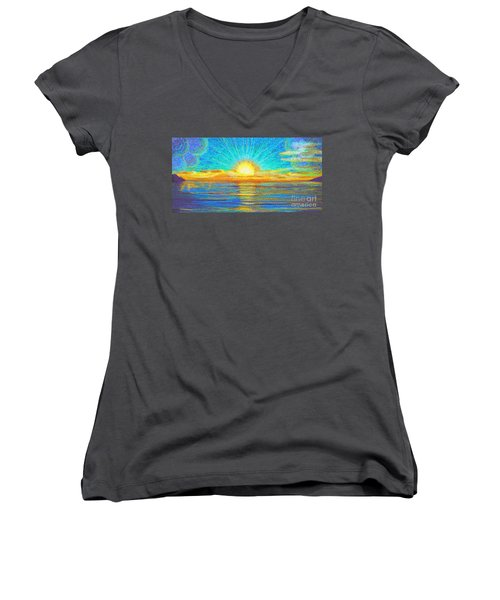 Beach 1 6 2019 Women's V-Neck