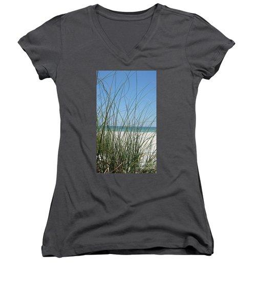 Beach View Women's V-Neck