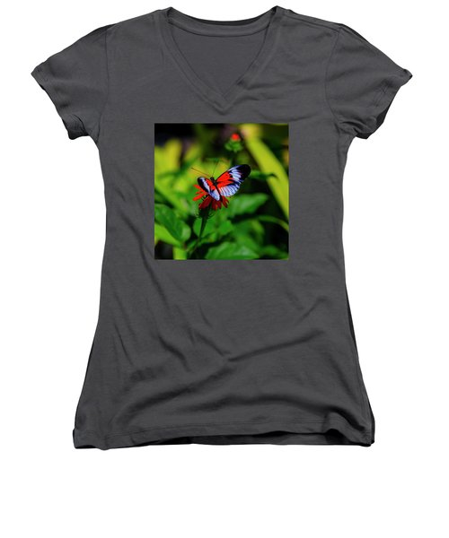 Women's V-Neck featuring the photograph Beautiful Butterfly by Kevin Banker