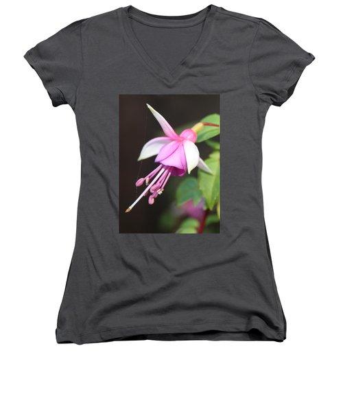 Beautiful Fuchsia Women's V-Neck