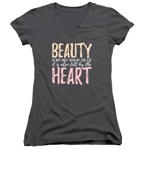 Beauty Heart Women's V-Neck
