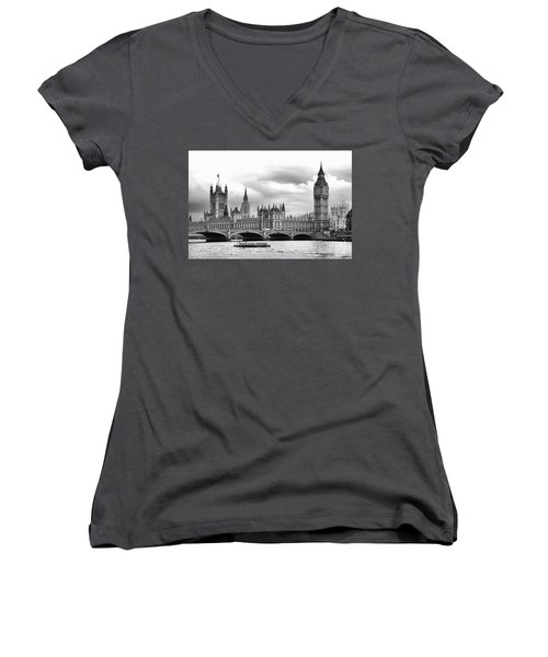 Big Clock In London Women's V-Neck