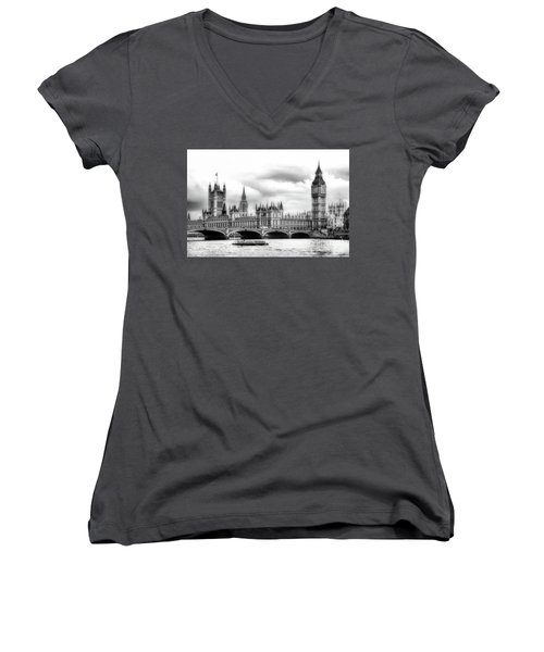Big Clock In London Soft Women's V-Neck