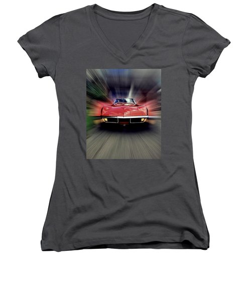 Big Red Women's V-Neck