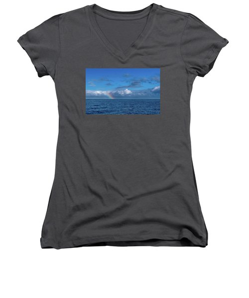 Blue Rainbow Horizon Women's V-Neck