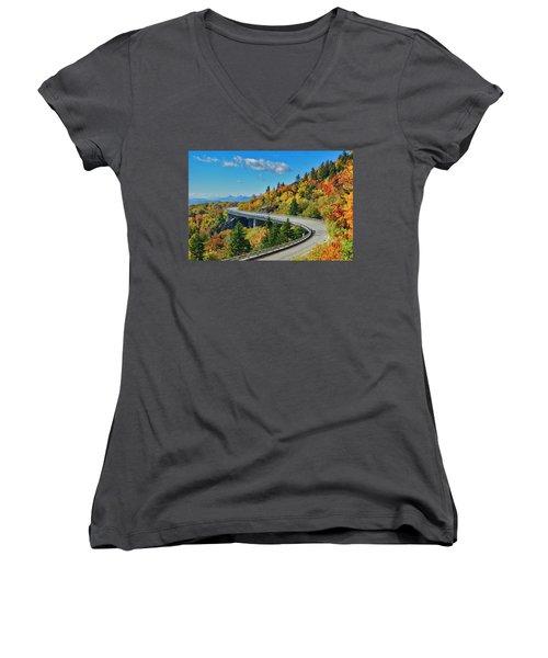 Blue Ridge Parkway Viaduct Women's V-Neck