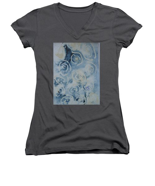 Blue Spirals Women's V-Neck