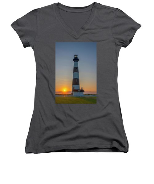 Bodie Island, Sunrise, Obx Women's V-Neck