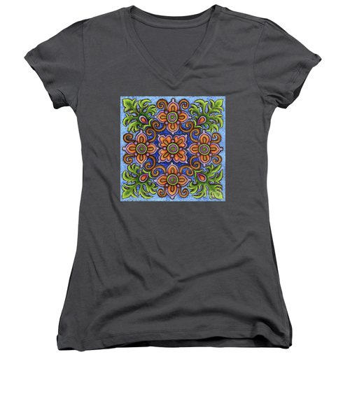 Botanical Mandala 1 Women's V-Neck