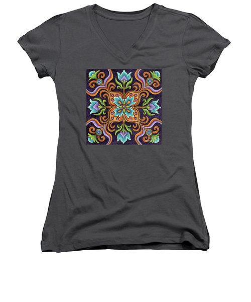 Botanical Mandala 12 Women's V-Neck