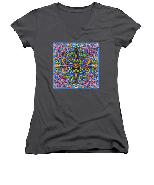 Botanical Mandala 2 Women's V-Neck