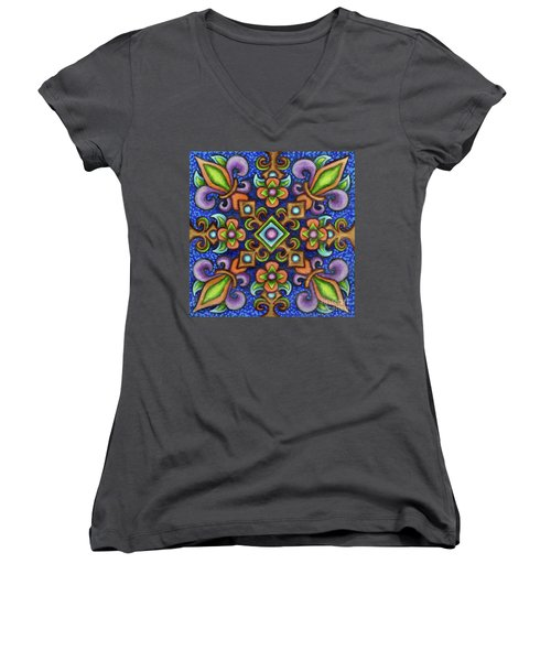 Botanical Mandala 3 Women's V-Neck
