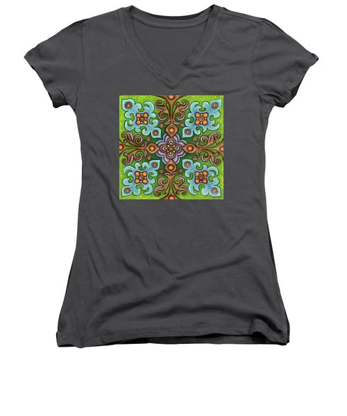 Botanical Mandala 4 Women's V-Neck