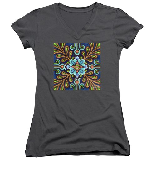 Botanical Mandala 9 Women's V-Neck