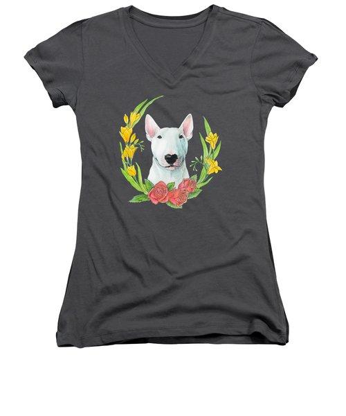 Bull Terrier Ivan Women's V-Neck