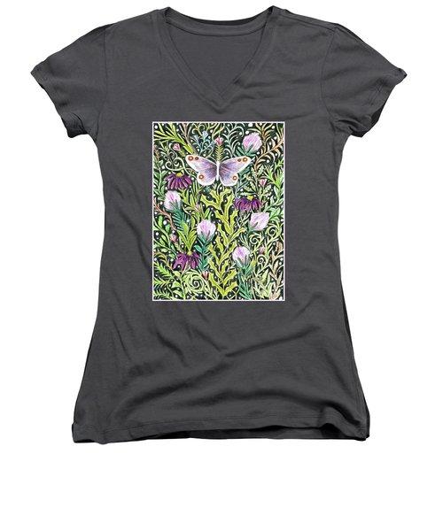 Butterfly Tapestry Design Women's V-Neck