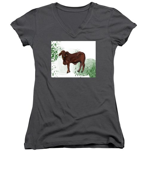 C Is For Cow Women's V-Neck (Athletic Fit)