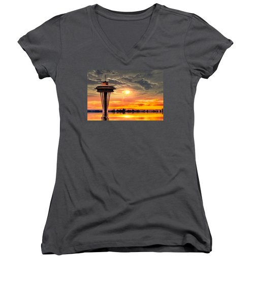 Calm After The Storm Women's V-Neck