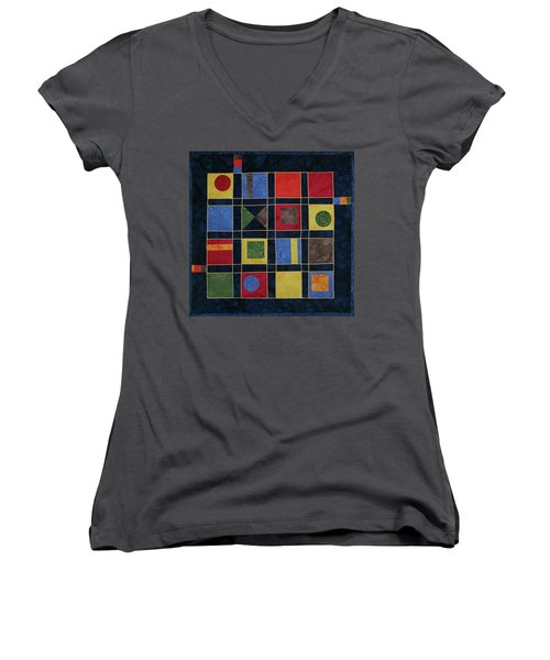 Carnival Of Colors Women's V-Neck