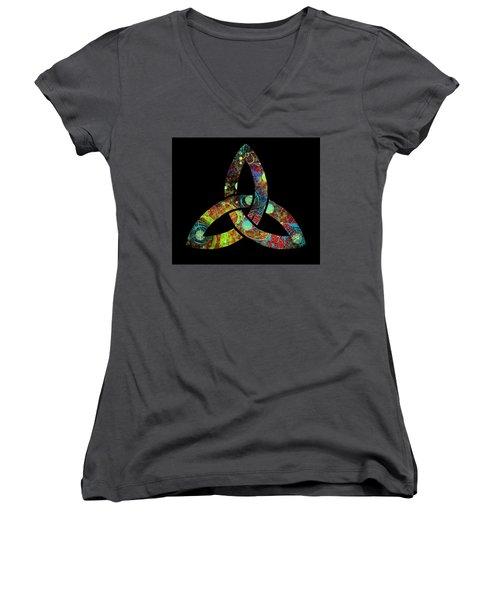 Celtic Triquetra Or Trinity Knot Symbol 1 Women's V-Neck